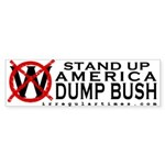 Stand Up America: Dump Bush Sticker