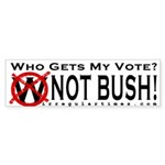 Not Bush Bumper Sticker