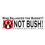 Who Balanced the Budget? Bumper Sticker