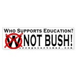 Who Supports Education? Bumper Sticker
