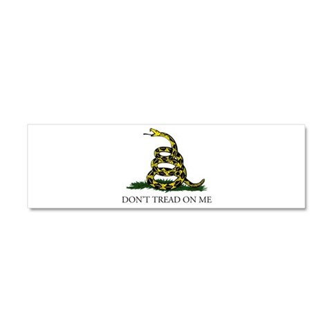 Don't Tread On Me Snake  Art Car Magnet 10 x 3 by CafePress