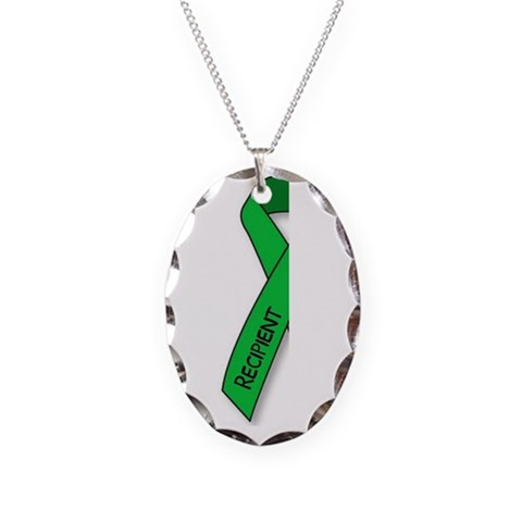 - recipient Kidney Necklace Oval Charm by CafePress