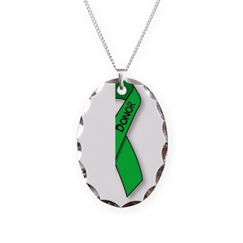 - donor Kidney Necklace Oval Charm by CafePress