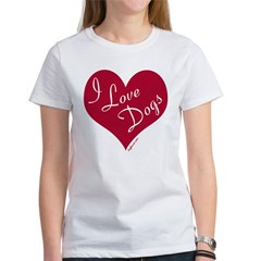 I Love Dogs Women's T-Shirt