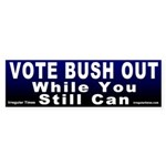 Vote Bush Out Bumper Sticker