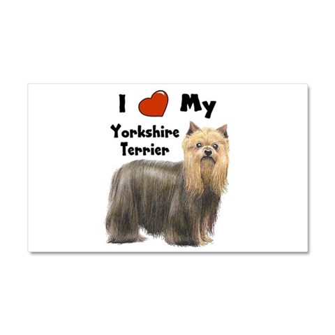 I Love My Yorkshire Terrier  Pets Car Magnet 20 x 12 by CafePress