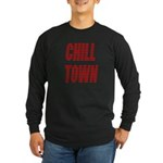 Chill Town (Red) Long Sleeve Dark T-Shirt