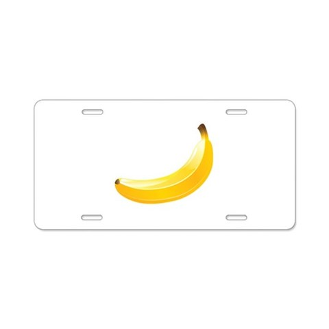 Banana  Cool Aluminum License Plate by CafePress