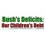 Bush's Deficits = Debt Bumper Sticker