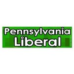 Pennsylvania Liberal bumper sticker