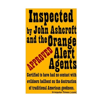 Orange Alert Inspection Sticker