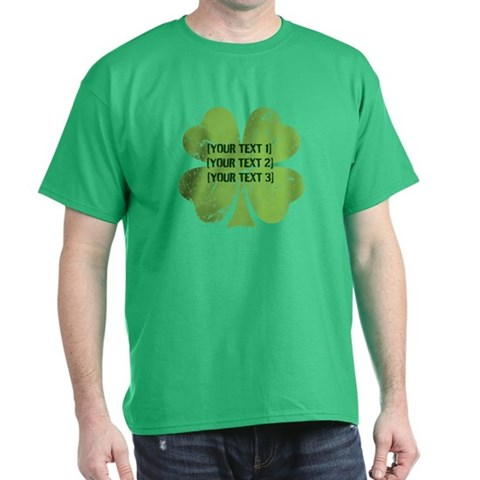 Product Image of [Your text] St. Patrick's Day Dark T-Shirt