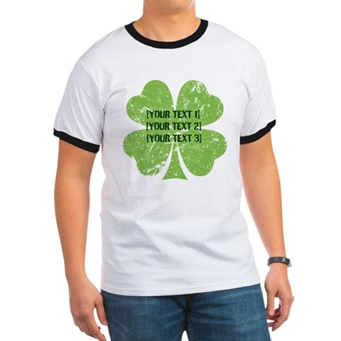 Product Image of [Your text] St. Patrick's Day Ringer T