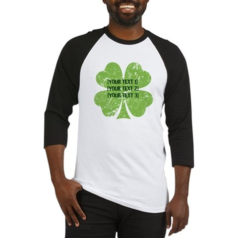 Product Image of [Your text] St. Patrick's Day Baseball Jersey