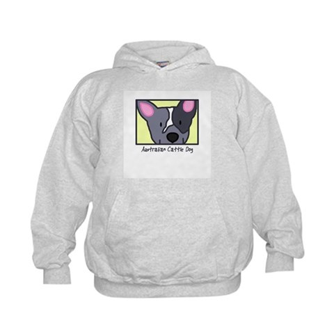 Anime Blue Heeler  Pets Kids Hoodie by CafePress