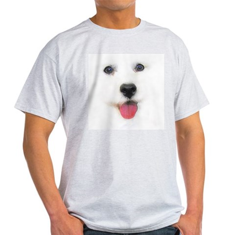 Bichon face Ash Grey T-Shirt Funny Light T-Shirt by CafePress