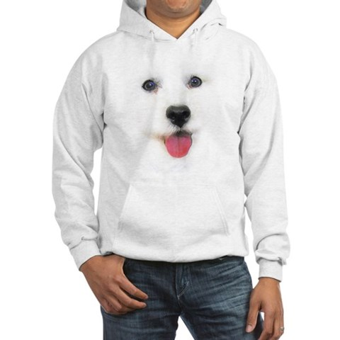 Bichon face Funny Hooded Sweatshirt by CafePress
