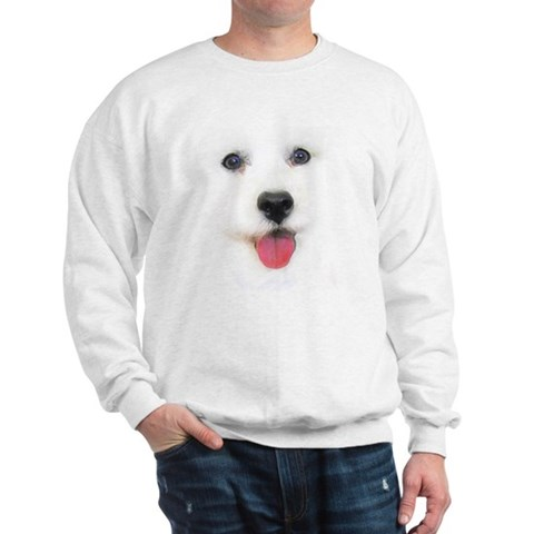 Bichon face Funny Sweatshirt by CafePress