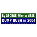 By George Dump Bush Bumper Sticker