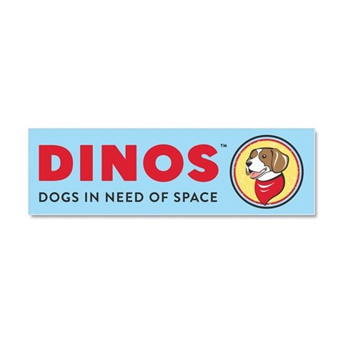DINOS Logo  Pets Car Magnet 10 x 3 by CafePress