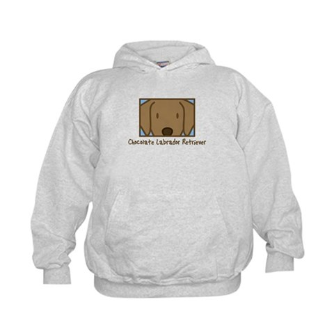 Anime Chocolate Lab  Pets Kids Hoodie by CafePress