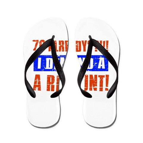 70th birthday design  70 Flip Flops by CafePress