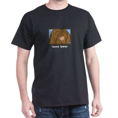 Anime Sussex Spaniel Black T-Shirt