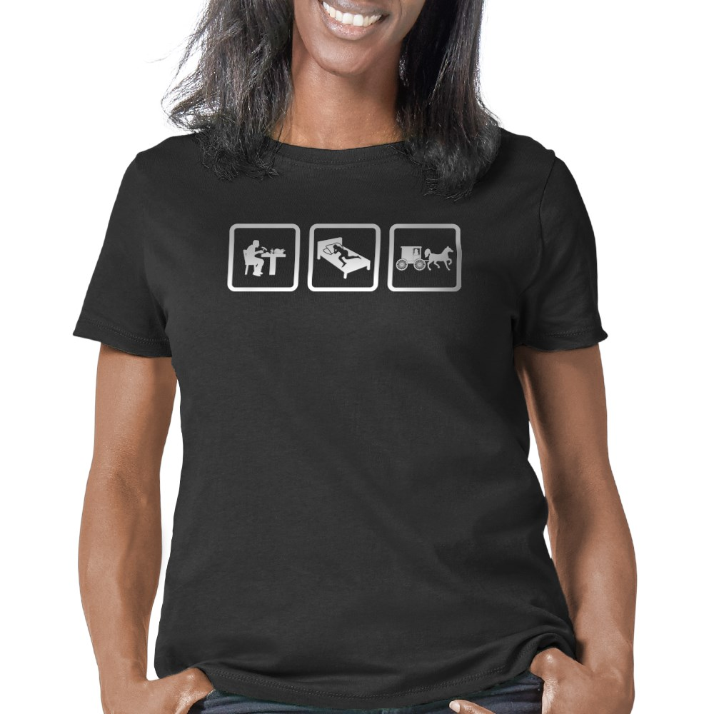 Artsmith Organic Womens Fitted T-Shirt US Navy with Aircraft Carrier Planes Submarine and Emblem