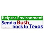 Bush Back to Texas Bumper Sticker