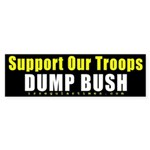 Support Our Troops Dump Bush Sticker