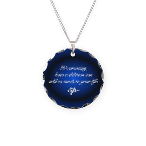 Bamp;B Quote Necklace Charm Black Necklace Circle Charm by CafePress