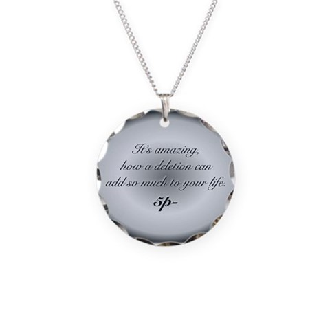 Bamp;W Quote Necklace Charm B Necklace Circle Charm by CafePress