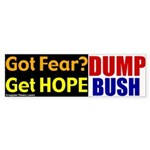 Get Hope.  Dump Bush Bumper Sticker