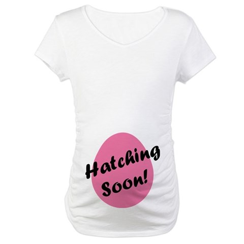 Product Image of Hatching Soon Easter Egg Maternity T-Shirt