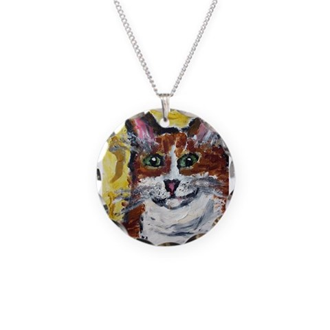 : Artwork by Anne K Abbott Art Necklace Circle Charm by CafePress