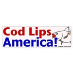 Cod Lips America Bumper Sticker