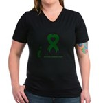 With All My Heart Cerebral Palsy Women's V-Neck Da