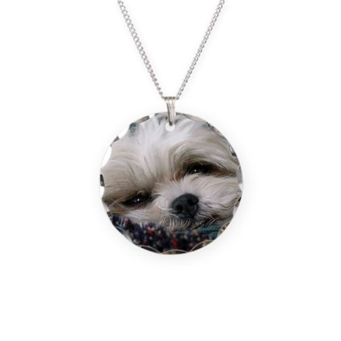 ALAC Rescue  Dog Necklace Circle Charm by CafePress