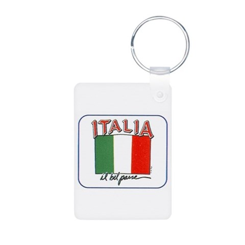All that's Italian  Locations Aluminum Photo Keychain by CafePress