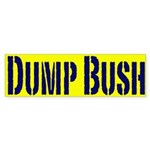 Dump Bush Bumper Sticker