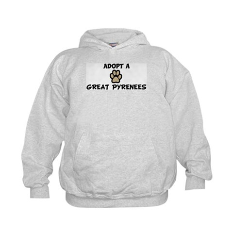 Adopt a GREAT PYRENEES  Dog Kids Hoodie by CafePress