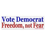 Democrats for Freedom Bumper Sticker