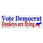 Donkeys are Flying Bumper Sticker