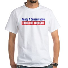 Think for Yourself White T-Shirt