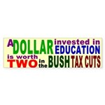 A Dollar in Education Worth Two Bush