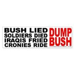 Bush Lied...Dump Bush Bumper Sticker