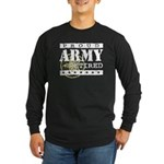Proud Army Retired Long Sleeve Dark T-Shirt