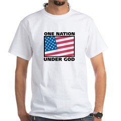 One Nation White T-Shirt   