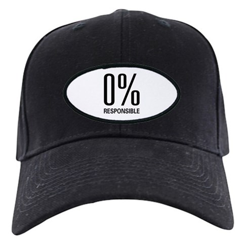 0 Responsible  Funny Black Cap by CafePress