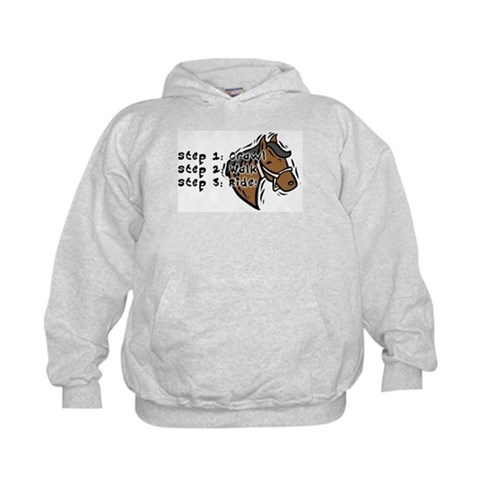 3 Steps Design  Horse Kids Hoodie by CafePress